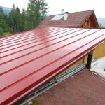 plocha střechy falcovaný plech