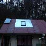falcovaná střecha -okno velux