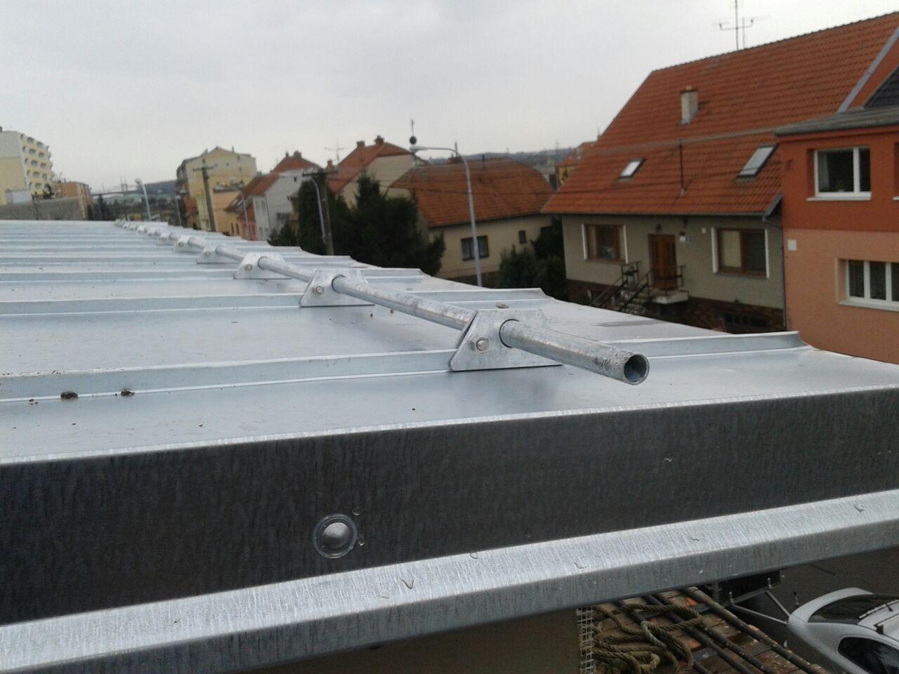 Pohled na zábranu proti sněhu Brno chrlice