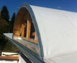 PVC střecha obloukový vikýř Brno